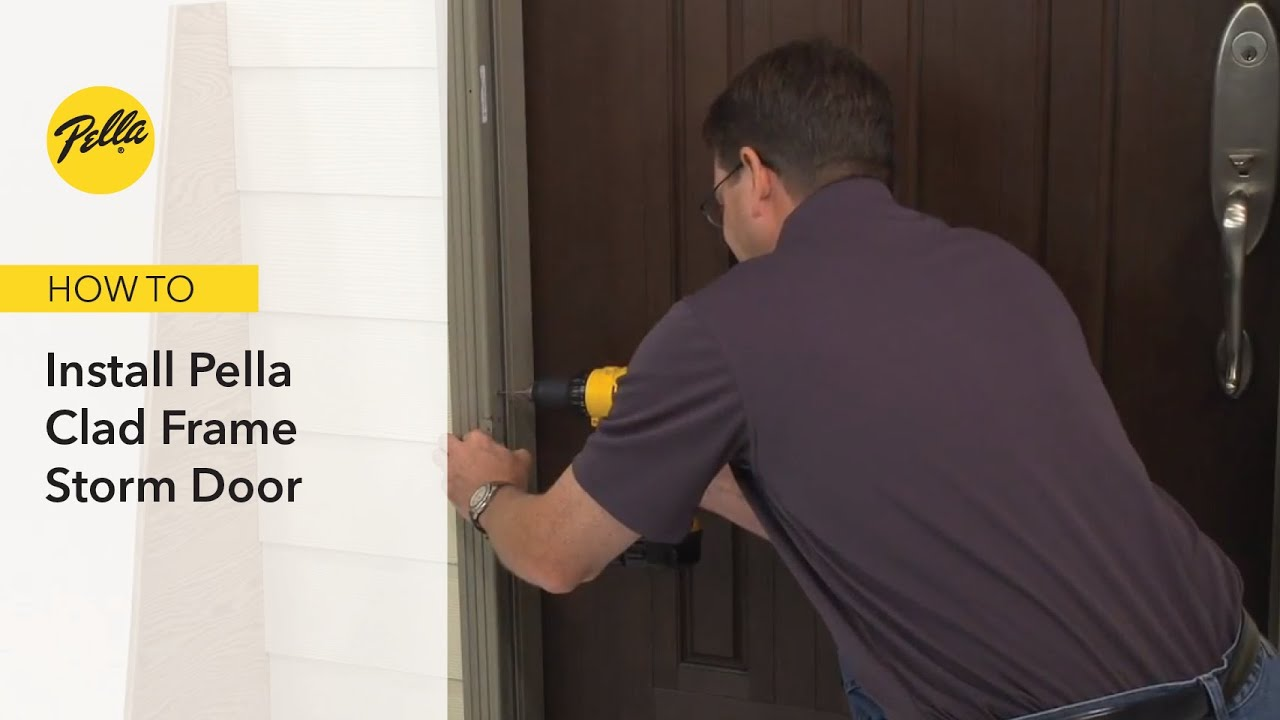 How To Install Pella Clad Frame Storm Door Youtube