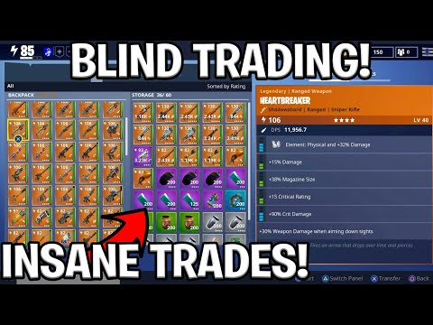 INSANE BLIND TRADING w/Fresh Panda (Fortnite Save The World)