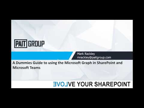 A Dummies Guide to using the Microsoft Graph in SharePoint and