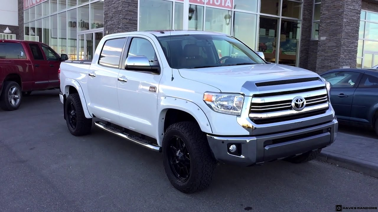 2016 Toyota Tundra Crew Max 1794 Edition Leveled on 275 60R20 Tires