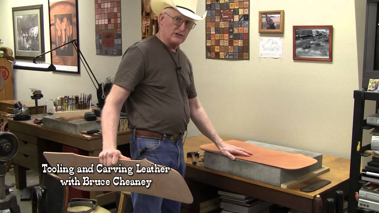 Leather Carving Tutorial How To Transfer And Tap Off