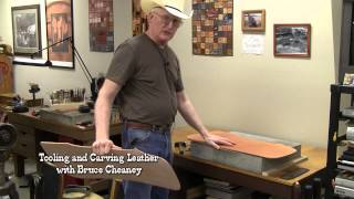 Leather Carving Tutorial How to Transfer and Tap Off Leather Designs