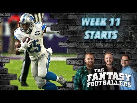 Fantasy Football 2016 - Starts of the Week, Week 11 Matchups, Boom-Boom! - Ep. #310