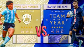 PRIME ICON MOMENTS vs. TEAM OF THE YEAR! - FIFA 20 Career Mode