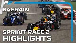 F2 Sprint Race 2 Highlights | 2021 Bahrain Grand Prix