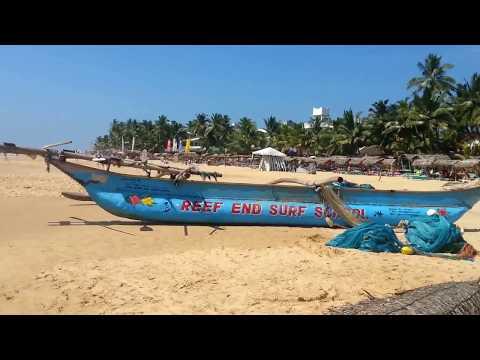 beach walk at Hikkaduwa Sri Lanka 2015 part 1
