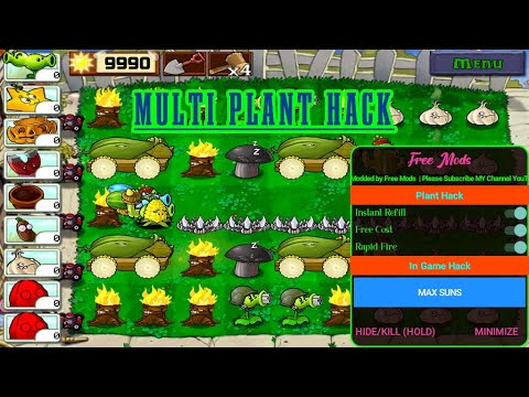 New Plant Vs Zombie V2 9 07 Mod Menu Apk Full Feature No Root Youtube