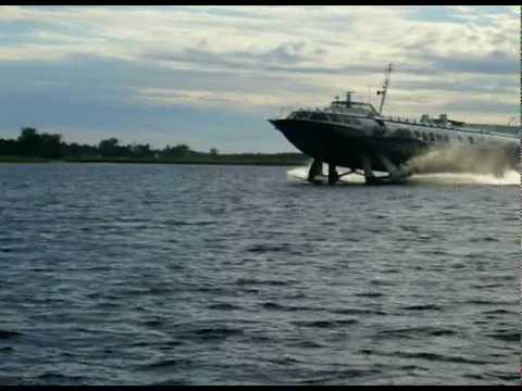 Hydrofoil craft sailing on Lake Onega