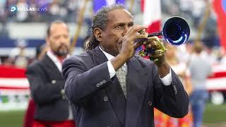 Watch Freddie Jones play the National Anthem before the Dallas Cowboys vs LA Rams game