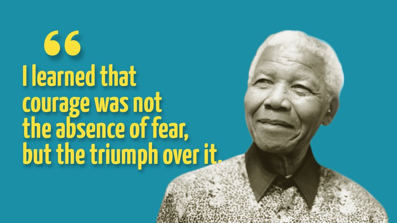 Top 10 Inspiring Nelson Mandela Quotes   YouTube