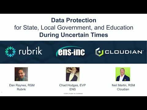 WEBINAR: Data Protection For SLED