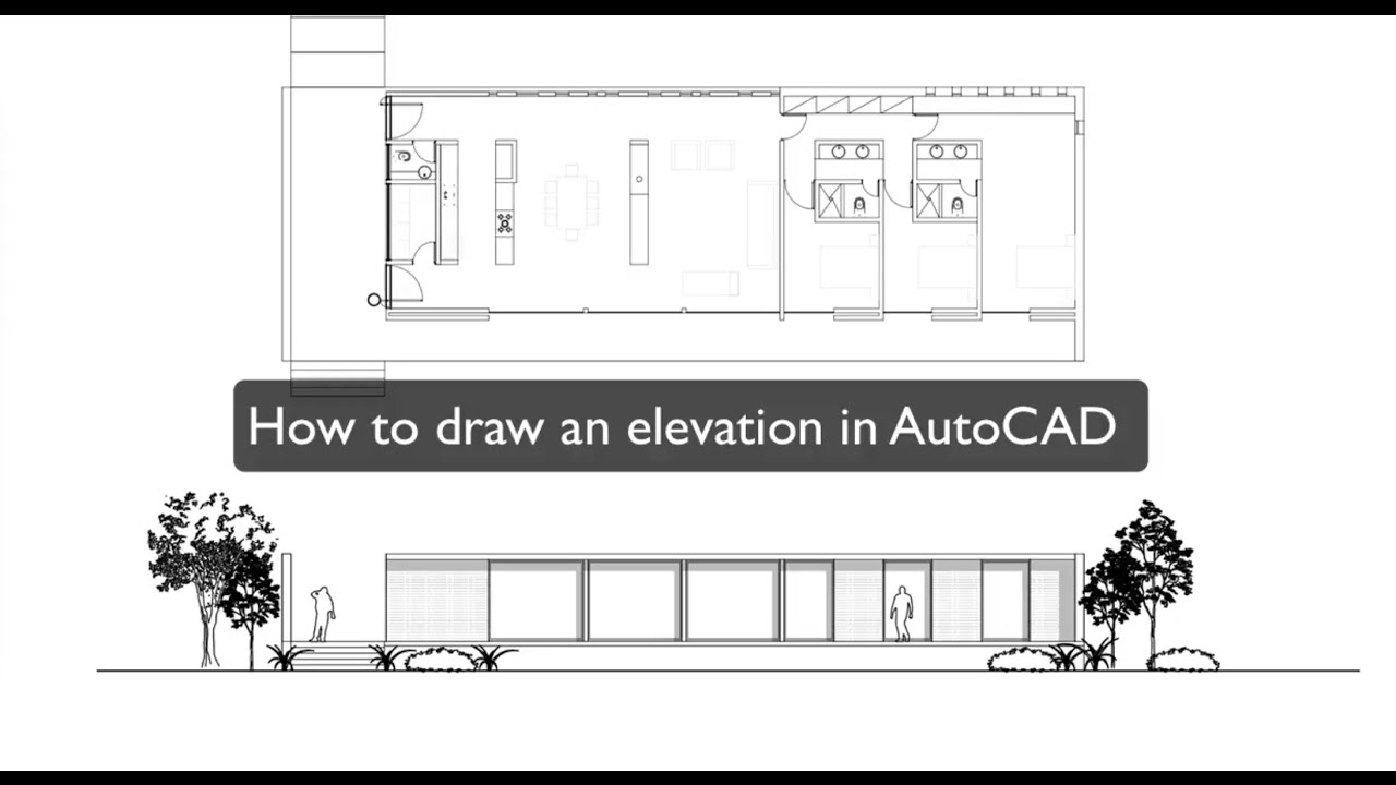How To Draw An Elevation In Autocad Youtube