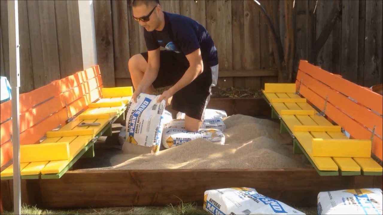 DIY sandbox - YouTube