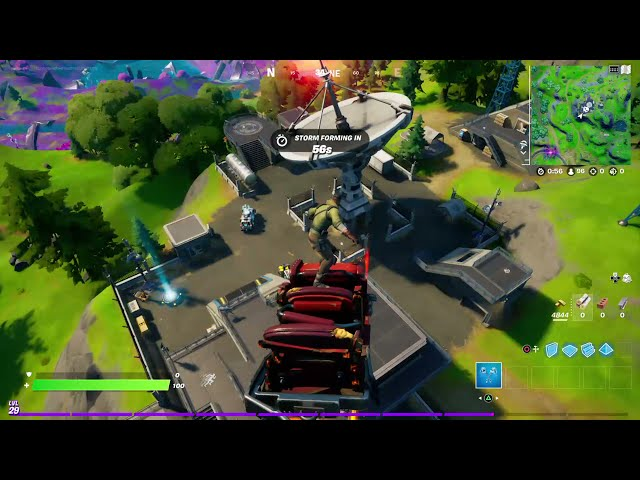How to Use a Jump Pad or Jump Vent and Travel 100 Meters Before Landing - Fortnite Season 8 Quest