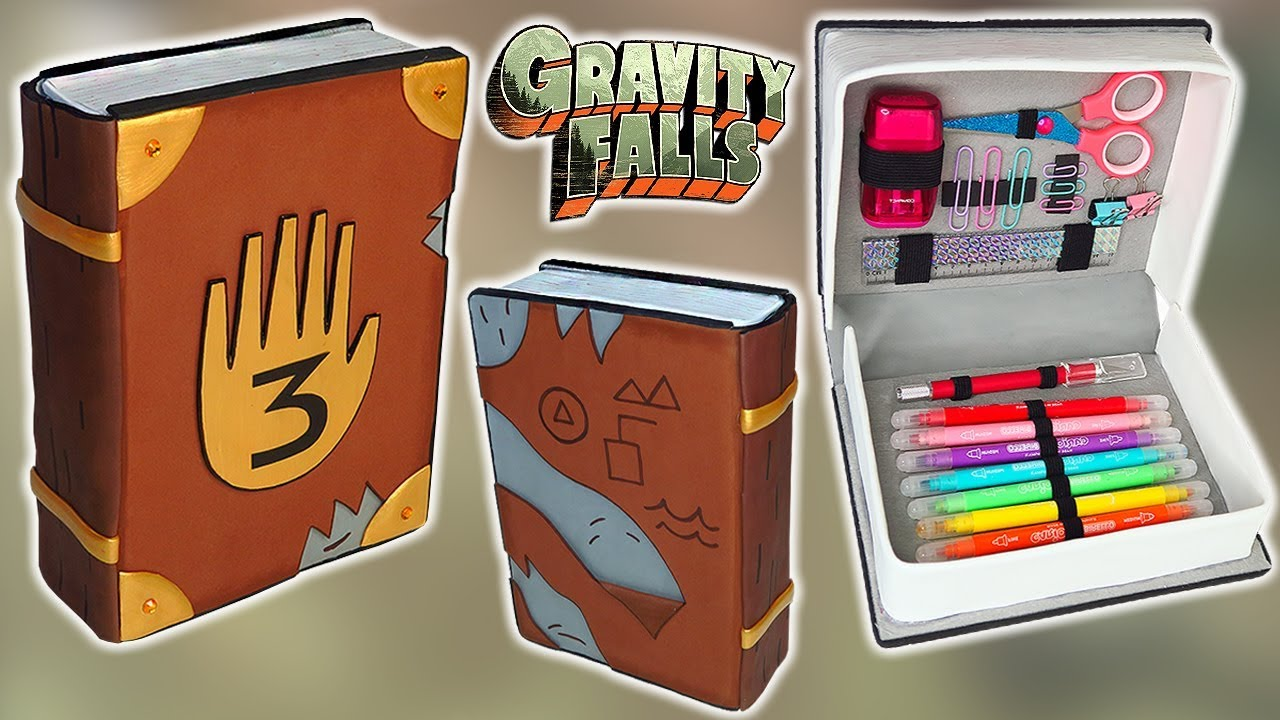Diy Cómo Hacer Un Estuche En Forma Del Diario De Gravity Falls