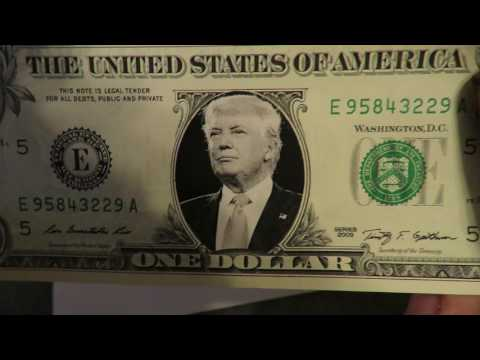 Wow President Trump is now on the 1 dollar Bill. Amazing im shocked