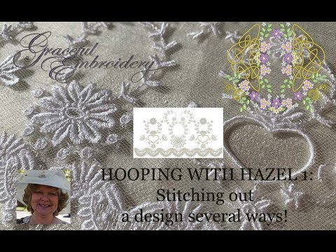 Hooping with Hazel: Getting variety from one design