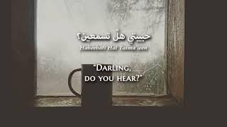 Rim Banna - Al-mataru Al-awwal  Modern Standard Arabic  Lyrics + Translation - ر