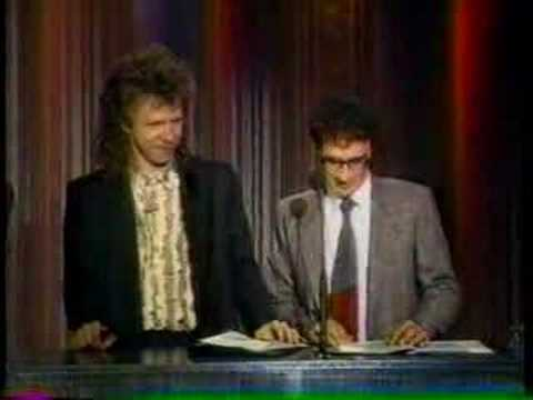 Joe Grushecky Best Vocalist Pittsburgh 1989 presented by Donnie Iris andB E Taylor