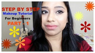 Step By Step Face Makeup Tutorial For Beginner In Hindi || Beginners Friendly Makeup Series,PART - 1