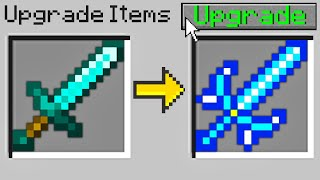 Minecraft Bedwars but I can upgrade any item in the game...