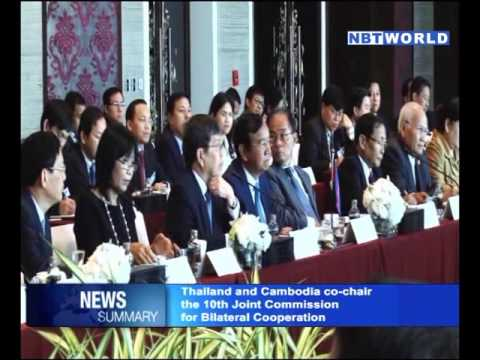 Thailand and Cambodia co chaired the 10th Joint Commission for Bilateral Cooperation