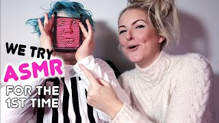 WE TRY ASMR FOR THE FIRST TIME *Hilarious Mom Vs Kids*