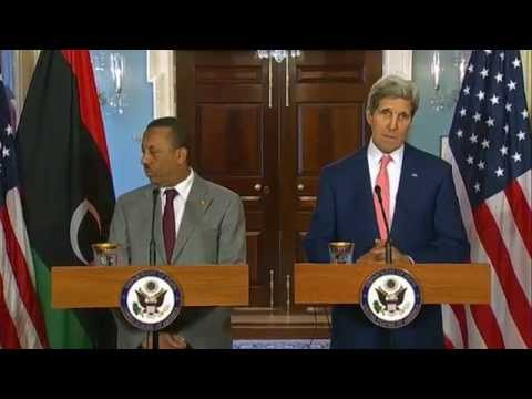 Secretary Kerry Delivers Remarks With Prime Minister of Libya al-Thinni