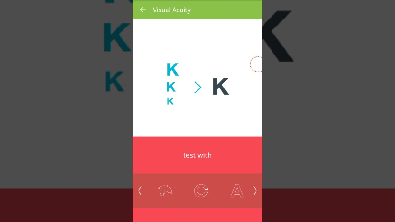 how to check eyesight at home through android mobile