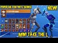 "*NEW* ""MiNi TAKE THE L"" Emote With Galaxy Skin + Popular Fortnite Skins..! (Hand Signals)"