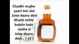 DAARU DESI -- COCKTAIL 2012 * LYRICS HD*