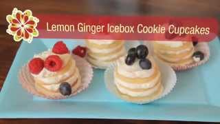 Lemon-ginger Icebox Cookie Cupcakes - Betty Crocker's Red Hot Summer Trends