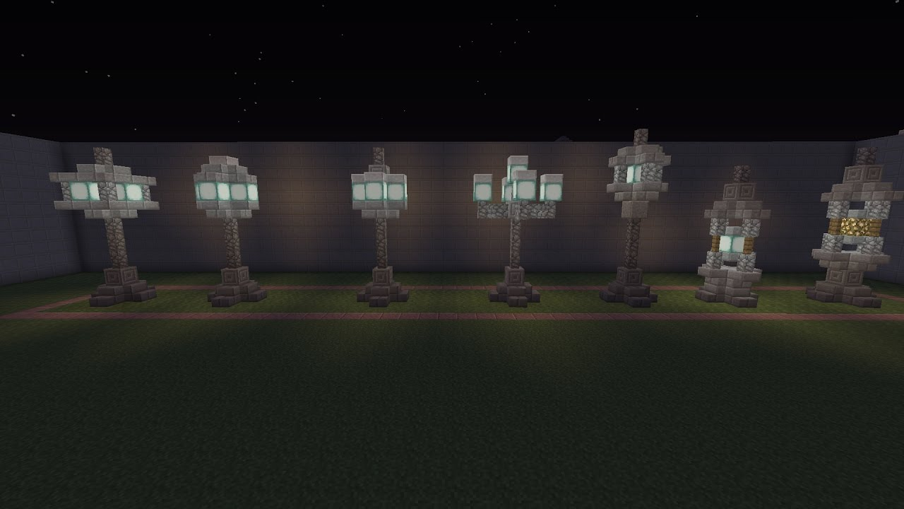 Minecraft Strassen Lampen Design
