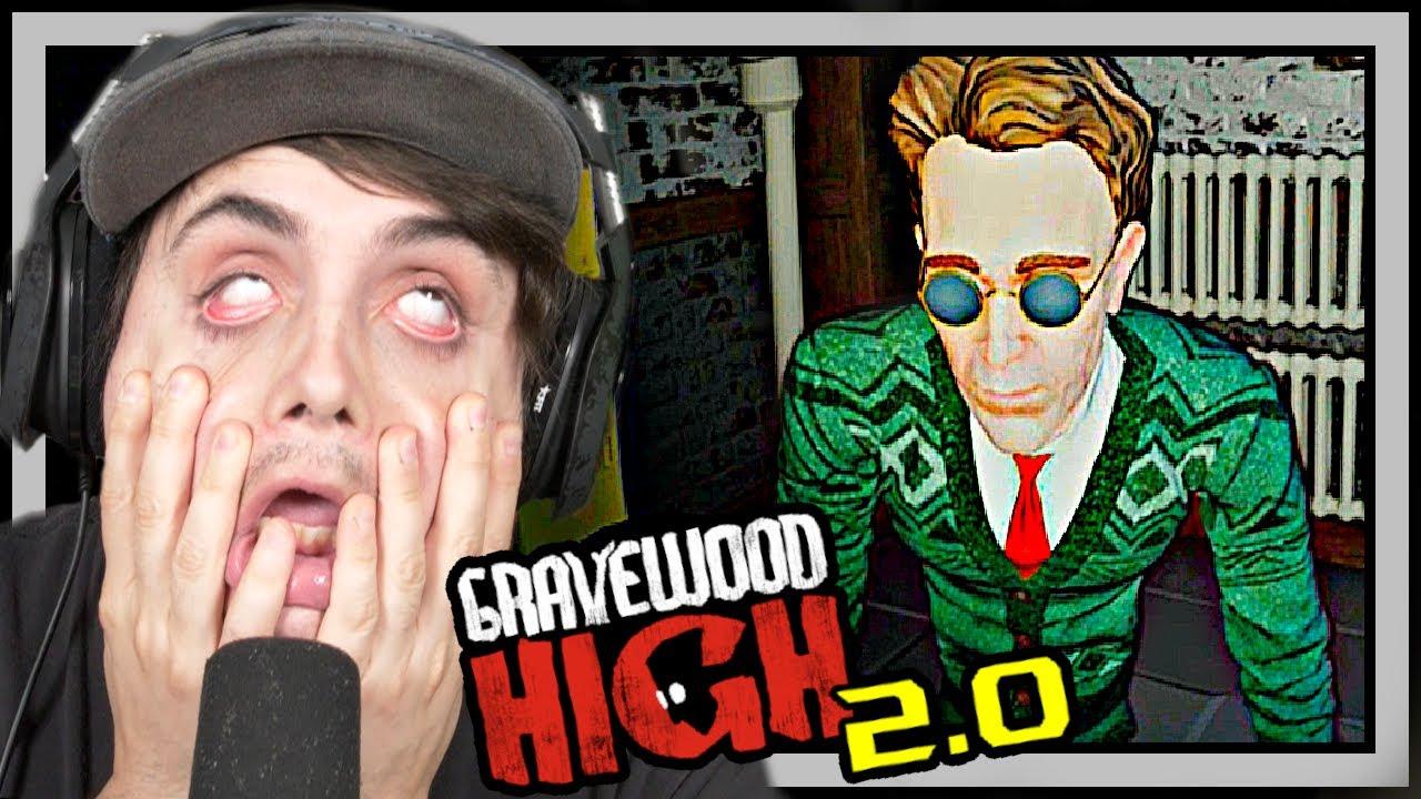 BALDI'S SUBSTITUTE NEIGHBOR IS BACK FOR REVENGE!! Gravewood High Alpha 2 Gamplay + Ending