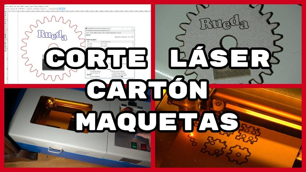 Cortadora Láser CO2 40W  Corte en Cartón para Maquetas (IV)  (#4K)