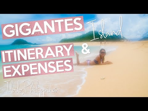 Gigantes Island TOUR ITINERARY AND EXPENSES