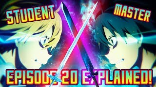 Sword Art Online Alicization EXPLAINED - Episode 20, Synthesis, Eugeo vs Kirito! | Gamerturk Reviews