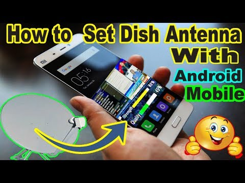 How To Set Dish Antenna Setting With Mobile Satellite Finder.