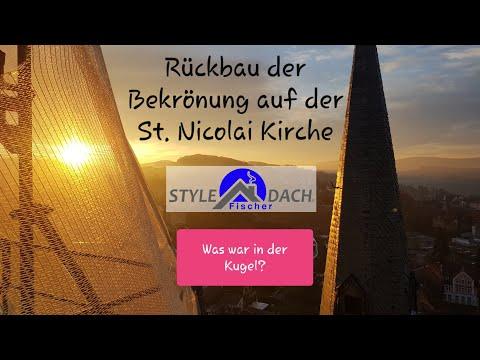 Abbau Der Bekrönung Auf Der St. Nicolai Kirche Zu Alfeld (Leine)
