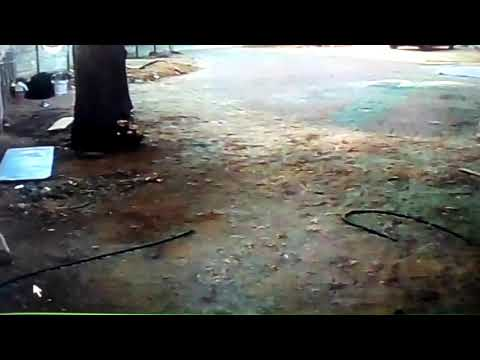 Real ghost caugt on home security camera