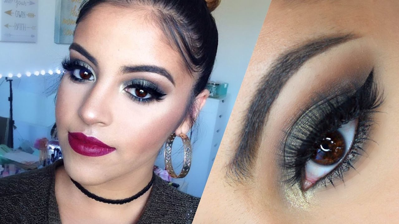 00276750d6d Maybelline One Brand Makeup Tutorial | Olive Green Smokey Eye - YouTube
