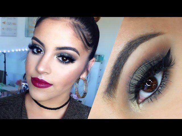 Maybelline One Brand Makeup Tutorial | Olive Green Smokey Eye