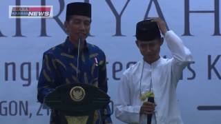 Video Lucu: Grogi Santri ini Nyaris Tak Hapal Pancasila Bikin Jokowi Ngakak