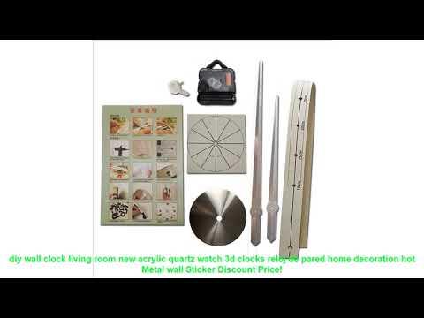 diy wall clock living room new acrylic quartz watch 3d clocks reloj de