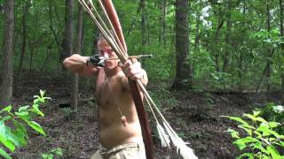 Hunting Dragonflies with a Primitive Bow 1! (HD)