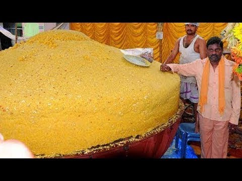 Unbelievable Food Making in the World #32000 kgs laddu making #Ganesh Chaturti