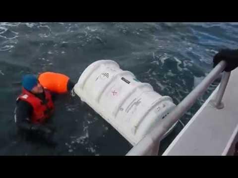 Halifax Harbour liferaft launch