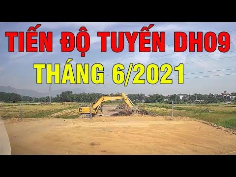 Tiến độ xây dựng tuyến đường DH09 ven Khu công nghệ cao Hòa Lạc