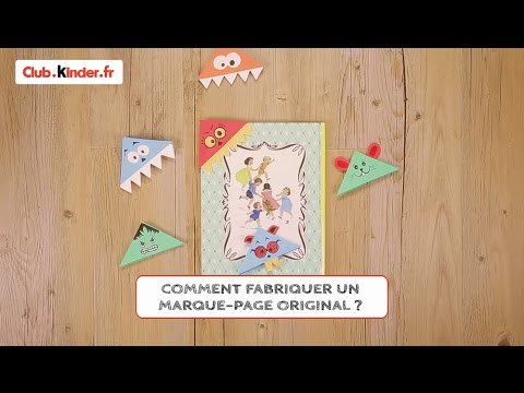 diy comment fabriquer un marque page original youtube. Black Bedroom Furniture Sets. Home Design Ideas