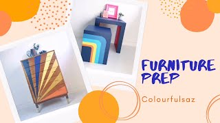 How to Paint Furniture for Beginners- The Prep  Cleaning, Sanding and Priming